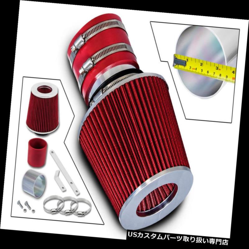 エアインテーク インナーダクト 03-06 Kia Sorento EX LX 3.5 V 6ショートラムエアインテークキット+ REDフィルター用 For 03-06 Kia Sorento EX LX 3.5 V6 Short Ram Air Intake Kit+ RED Filter
