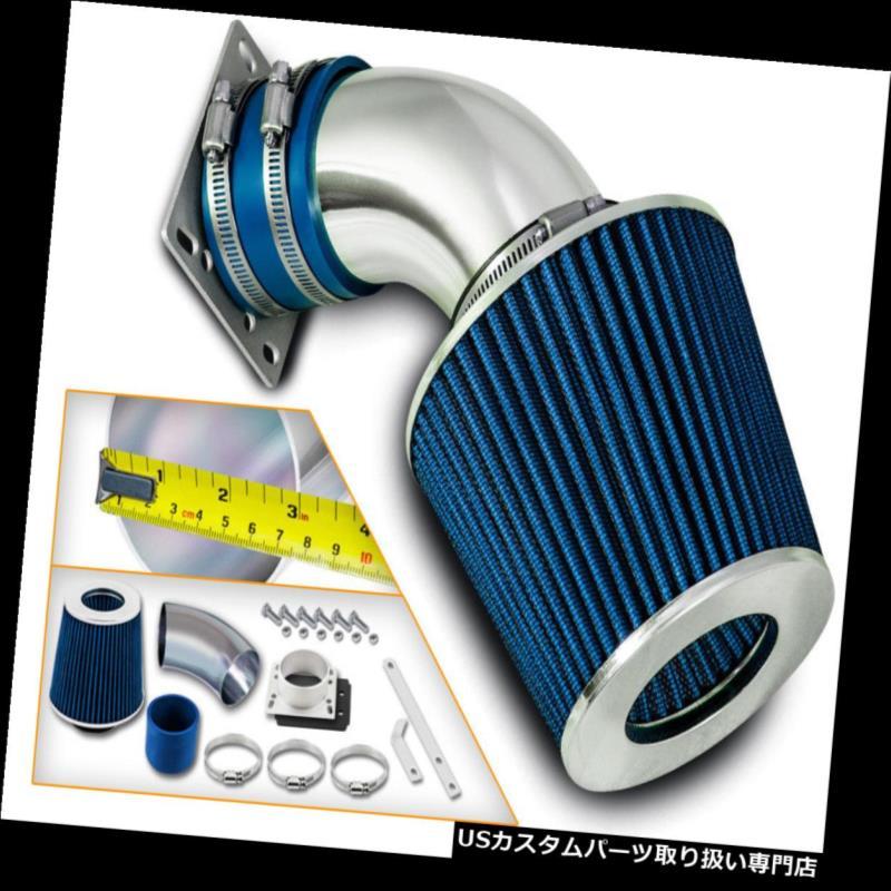 エアインテーク インナーダクト 92-95 BMW 318 318i 318is 318ti 1.8L L4用ショートラムエアインテークキット+ブルーフィルター Short Ram Air Intake Kit+ BLUE Filter For 92-95 BMW 318 318i 318is 318ti 1.8L L4