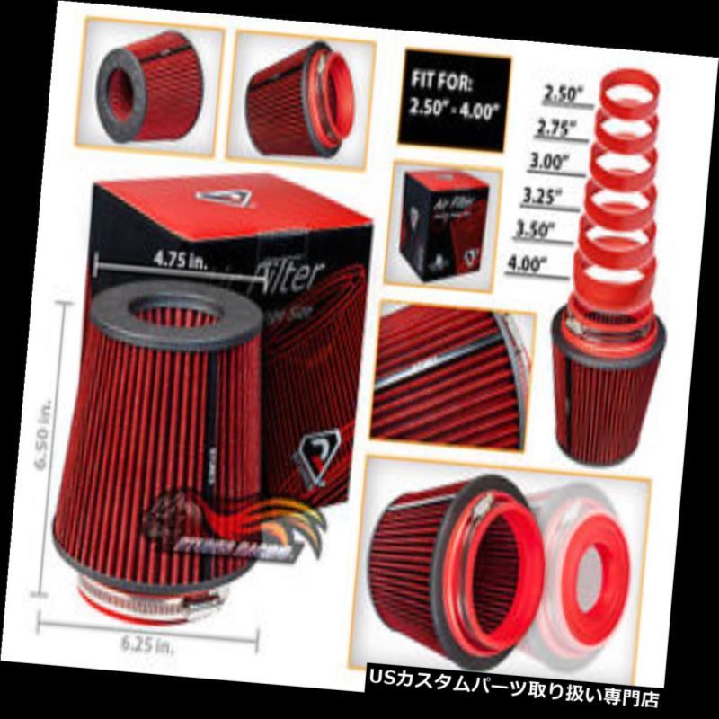 エアインテーク インナーダクト 赤い普遍的な入口の空気取り入れ口の円錐形の上の乾燥した取り替えフィルターアキュラホンダ RED Universal Inlet Air Intake Cone Open Top Dry Replacement Filter Acura Honda