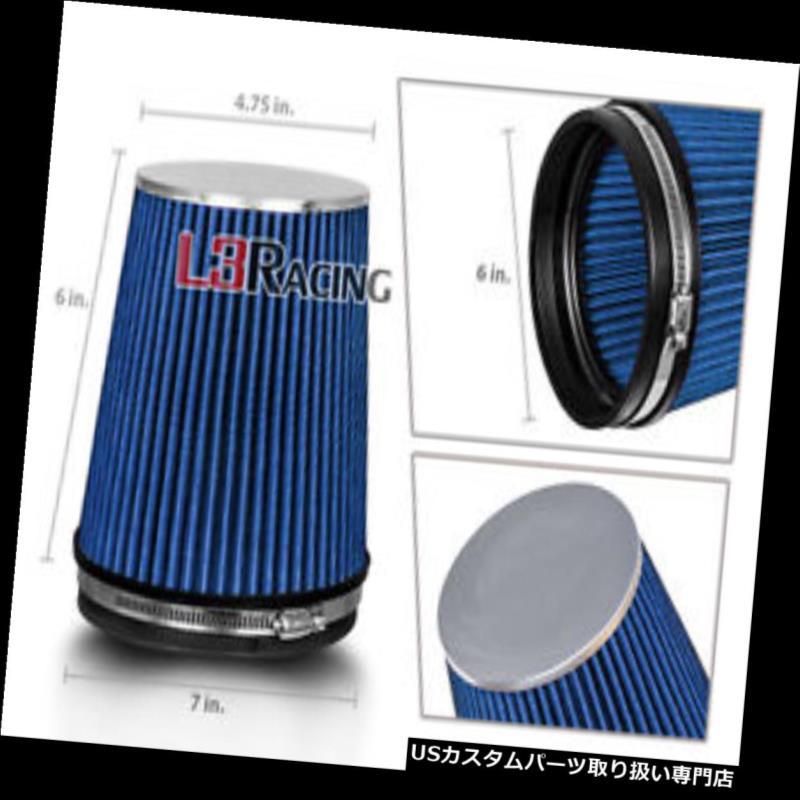 USエアインテーク インナーダクト ブルー6インチ6インチ152mmインレットコールドエアインテークコーントラックフィルターマツダ&フォード BLUE 6 Inches 6