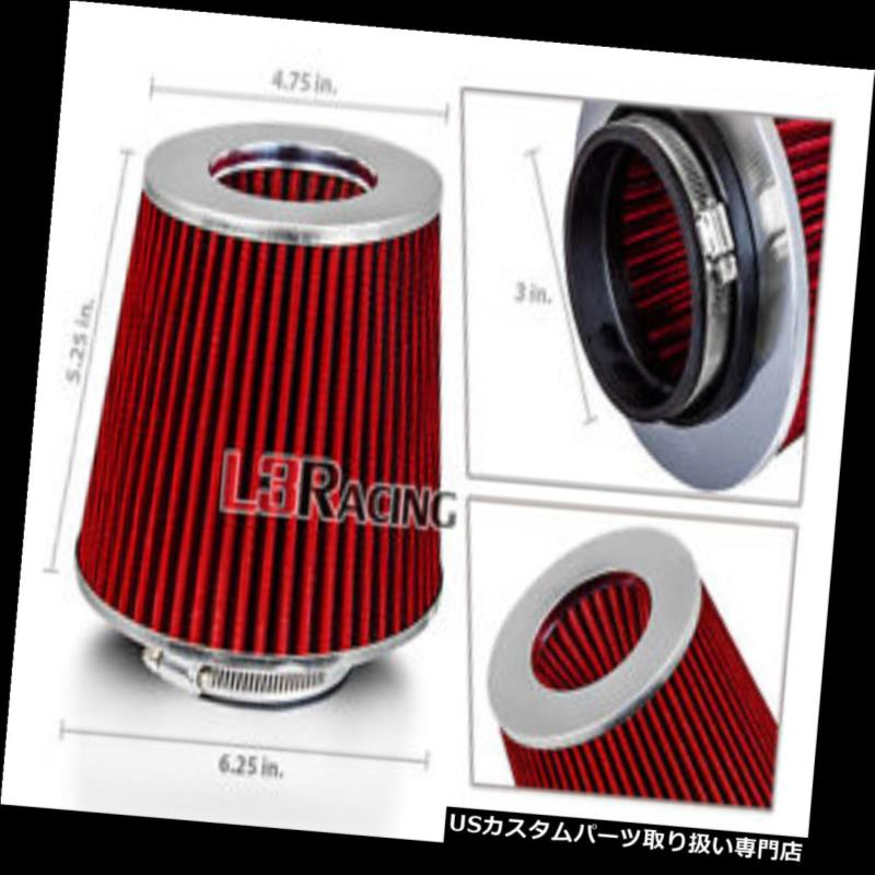 """RED 3.0/"""" Inches Inlet 76mm Cold Air Intake Cone Dry Replacement Filter For Buick"""