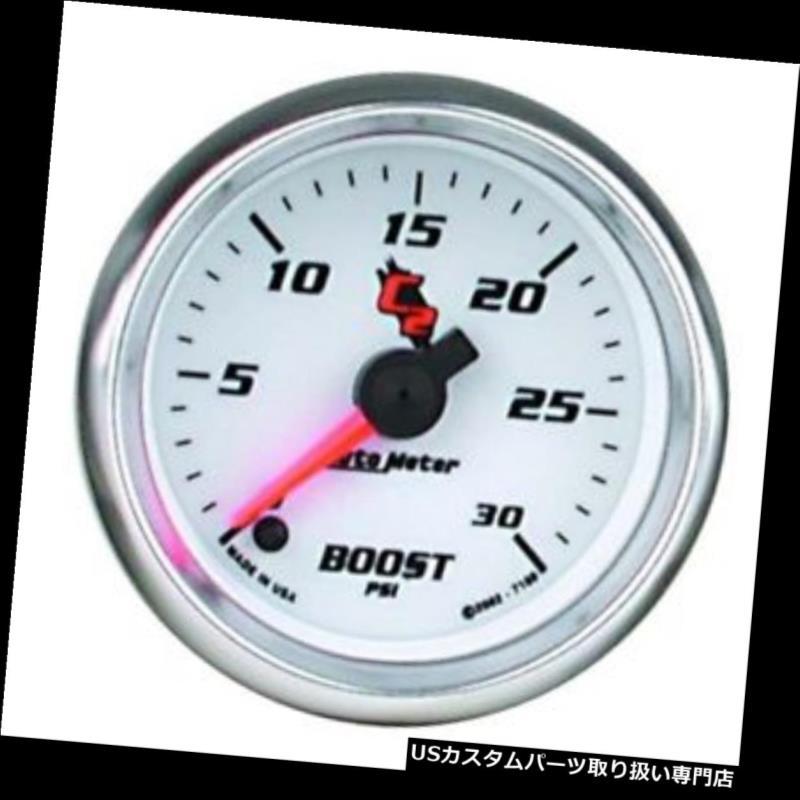 USタコメーター 自動メーター7160 C2デジタルステッピングモーターブーストゲージ、2-1 / 16インチ Auto Meter 7160 C2 Digital Stepper Motor Boost Gauge, 2-1/16 Inch