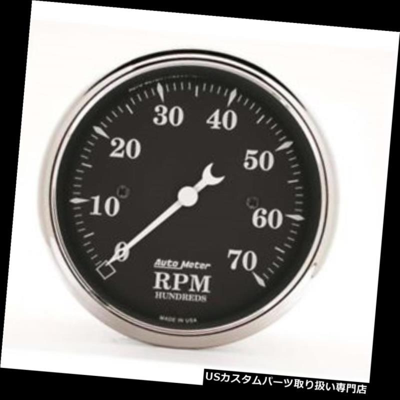 USタコメーター オートメーター1798オールドタイムブラックエアコアインダッシュタコメーター、3-1 / 8 Auto Meter 1798 Old Tyme Black Air-Core In-Dash Tachometer, 3-1/8