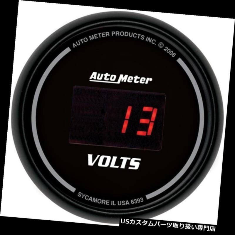 USタコメーター オートメーター6393 Sport-Compデジタル電圧計 Auto Meter 6393 Sport-Comp Digital Voltmeter Gauge