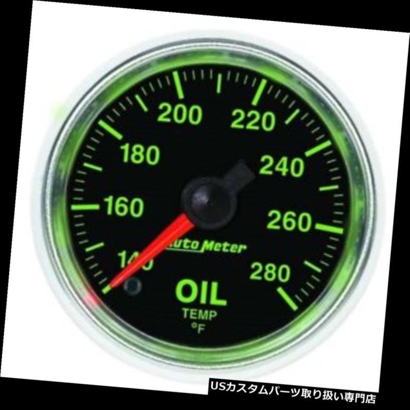 USタコメーター 自動メーター3856 GSデジタルステッパーモーター油温計 Auto Meter 3856 GS Digital Stepper Motor Oil Temperature Gauge