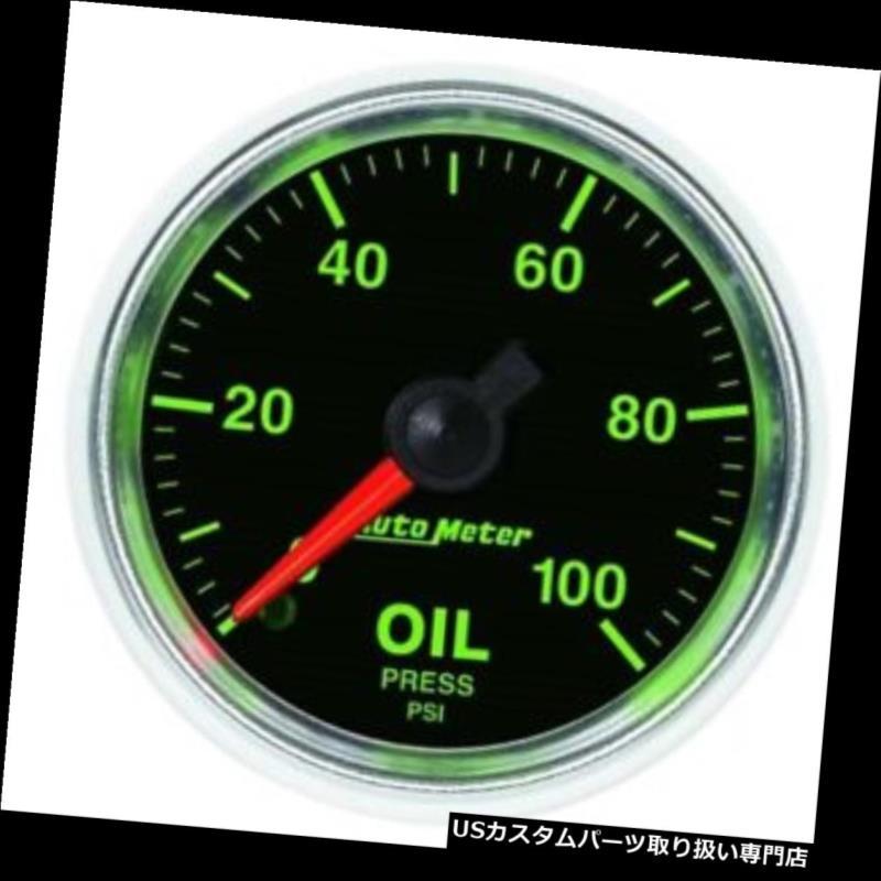 USタコメーター 自動メートル3821 GSの機械油圧ゲージ、2-1 / 16インチ Auto Meter 3821 GS Mechanical Oil Pressure Gauge, 2-1/16 Inch