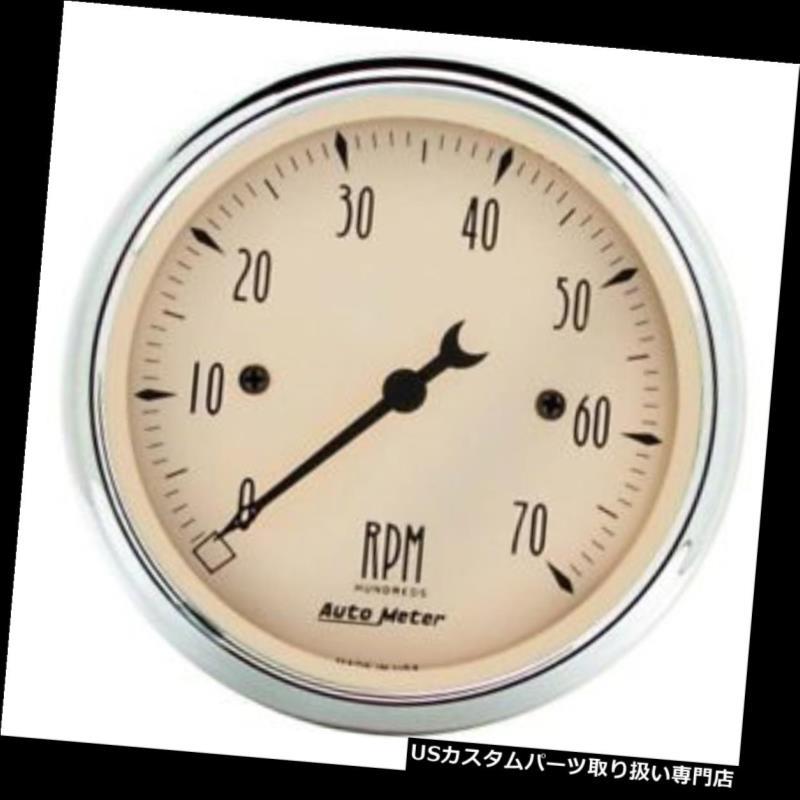 USタコメーター オートメーター1898アンティークベージュ空芯インダッシュタコメーターゲージ Auto Meter 1898 Antique Beige Air-Core In-Dash Tachometer Gauge