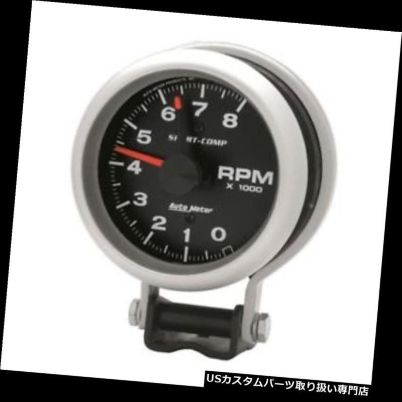 USタコメーター オートメーター3780スポーツコンプエアコアペデスタルタコート、8k RPM、3-3 / 4インチ Auto Meter 3780 Sport-Comp Air-Core Pedestal Tach, 8k RPM, 3-3/4 Inch
