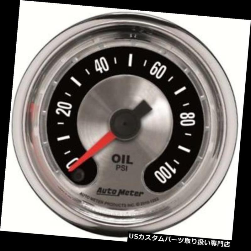USタコメーター 自動計1219年アメリカの筋肉機械油圧ゲージ Auto Meter 1219 American Muscle Mechanical Oil Pressure Gauge