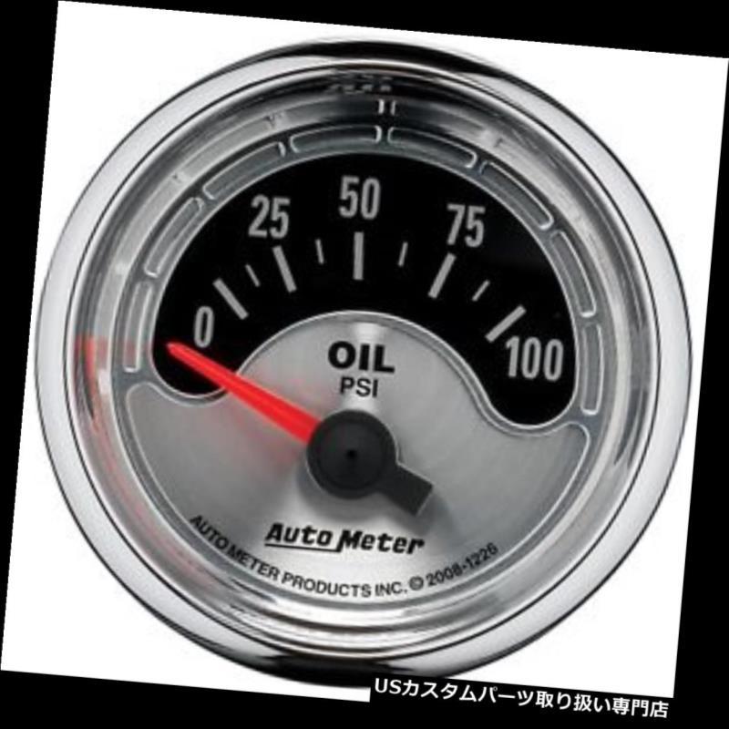 USタコメーター オートメーター1226アメリカンマッスルオイルプレッシャーゲージ AutoMeter 1226 American Muscle Oil Pressure Gauge