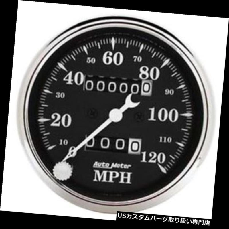 USタコメーター 自動計1796年の古いTymeの黒の機械速度計、3-1 / 8インチ Auto Meter 1796 Old Tyme Black Mechanical Speedometer, 3-1/8 Inch