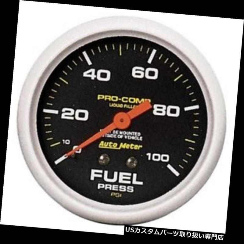 USタコメーター オートメーター5412 Pro-Compメカニカル燃圧計、100 PSI、2?5/8 Auto Meter 5412 Pro-Comp Mechanical Fuel Pressure Gauge,100 PSI, 2-5/8