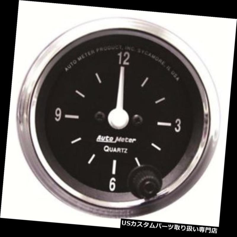 USタコメーター オートメーター201019コブラクォーツ時計ゲージ、2?1/16インチ、アナログ Auto Meter 201019 Cobra Quartz Clock Gauge, 2-1/16 Inch, Analog