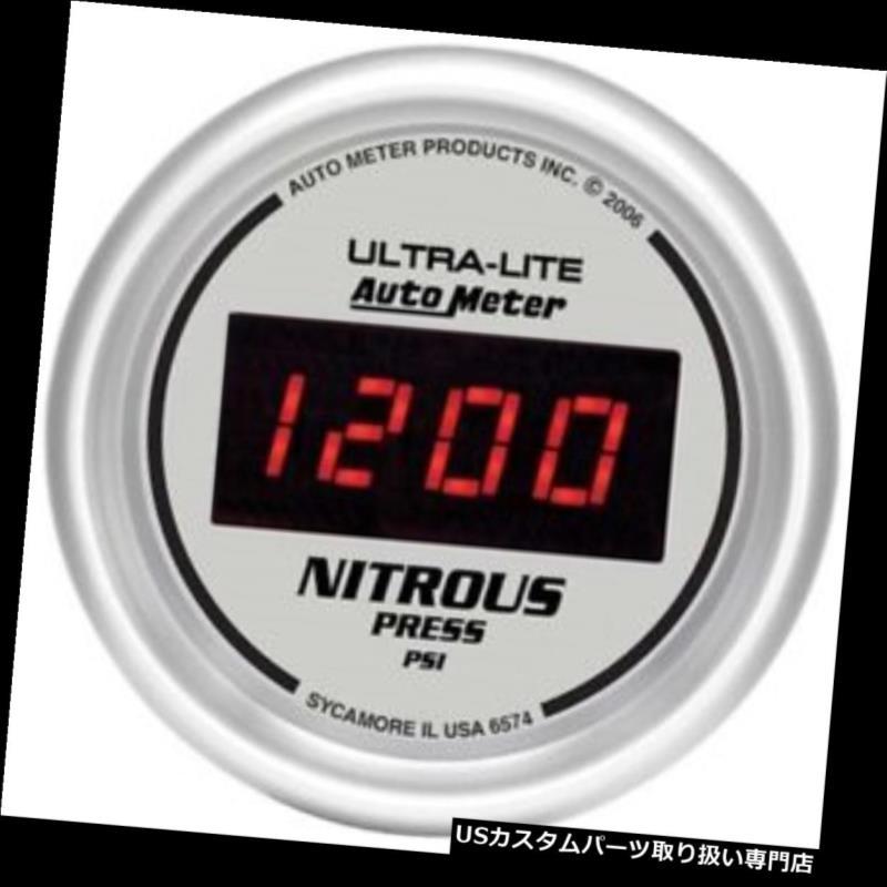 USタコメーター オートメーター6574ウルトラライトデジタルデジタル窒素圧力計 Auto Meter 6574 Ultra-Lite Digital Digital Nitrous Pressure Gauge