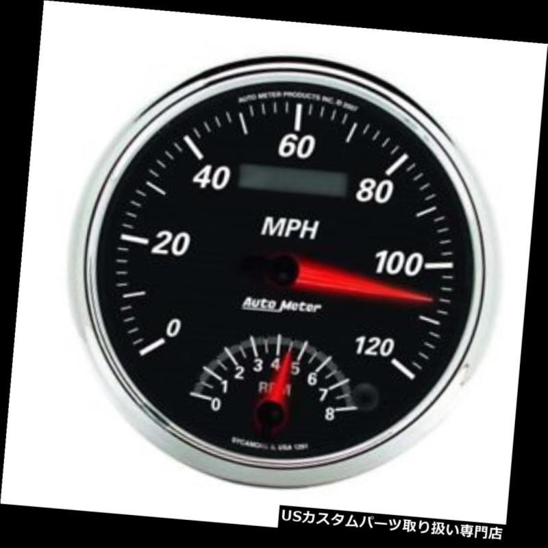USタコメーター オートメーター1291デザイナーブラックIIエアコアタコ/スピードコンボゲージ Auto Meter 1291 Designer Black II Air-Core Tach/Speedo Combo Gauge