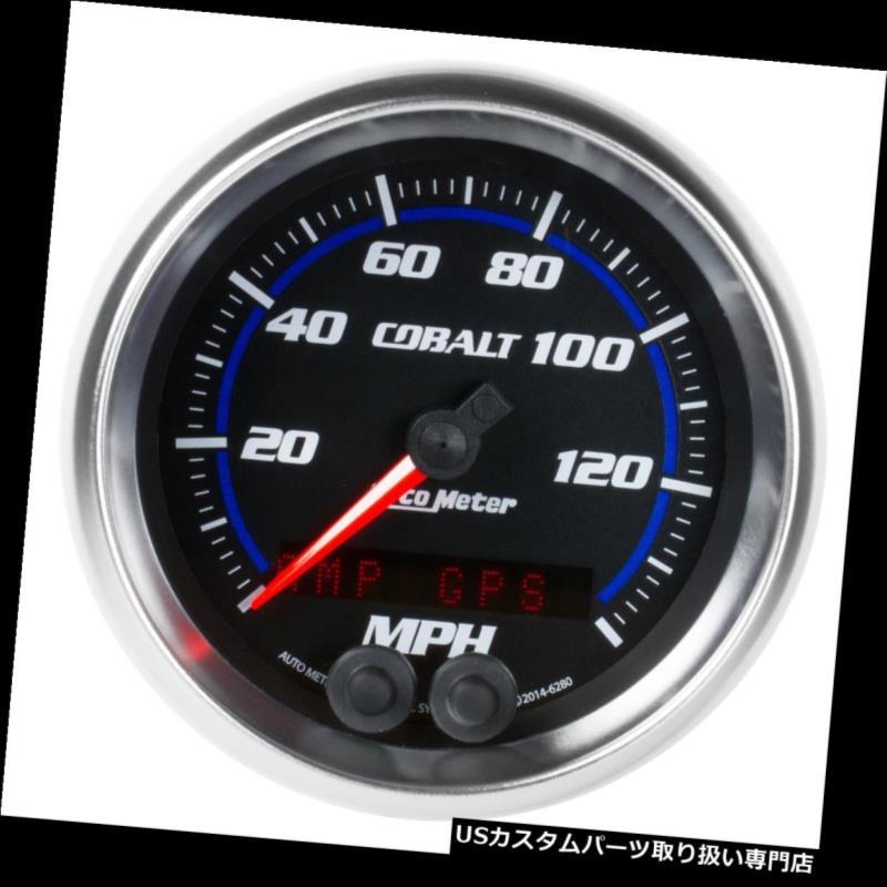 USタコメーター オートメーター6280コバルトスピードメーター、3-3 / 8、0-140 MPH、フラットレンズ Auto Meter 6280 Cobalt Speedometer, 3-3/8, 0-140 MPH, Flat Lens