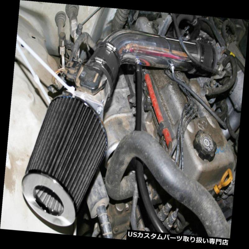 USエアインテーク インナーダクト BCPブラック1995 1996 1997 1997 1999 1999 4ランナータコマ2.7L L4ショートラムエアインテーク BCP BLACK 1995 1996 1997 1998 1999 4Runner Tacoma 2.7L L4 Short Ram Air Intake