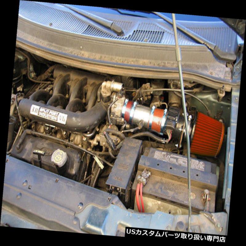 USエアインテーク インナーダクト BCP RED 1996 1997 1998 Ford Windstar 3.8L V6ショートラムエアインテーク+フィルター BCP RED 1996 1997 1998 Ford Windstar 3.8L V6 Short Ram Air Intake + Filter