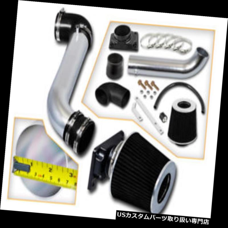 USエアインテーク インナーダクト BCP BLACK 99-03ギャラント2.4 L4 / 3.0 V6ショートラムエアインテークレーシングシステム+フィルター BCP BLACK 99-03 Galant 2.4 L4/3.0 V6 Short Ram Air Intake Racing System + Filter