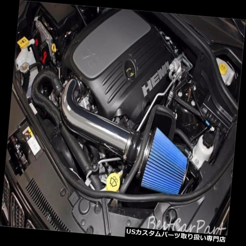"""3.25/"""" BLUE Heat Shield Cold Air Intake Filter For 15-17 Mustang 3.7L V6"""