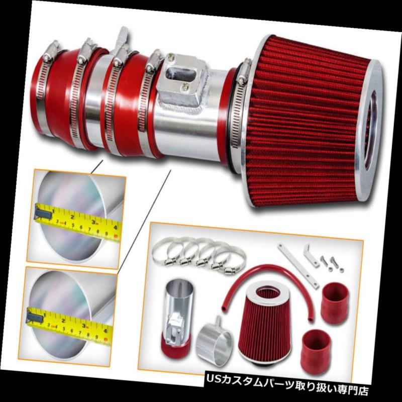 RED A インナーダクト Kit +Filter 3.5 V6 For V 08-12 BCP TLレーシングエアインテークキット+フィルター 6 CrossTour 3.5 Accord 08-12用アコード& Air RED Intake & USエアインテーク BCP CrossTour Racing TL