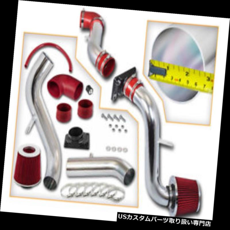 USエアインテーク インナーダクト BCP RED 00-05 Eclipse 2.4 L4 / 3.0 V6コールドエアインテークレーシングシステム+フィルター BCP RED 00-05 Eclipse 2.4 L4/3.0 V6 Cold Air Intake Racing System + Filter