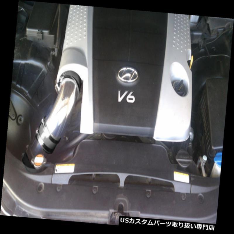 USエアインテーク インナーダクト BCPブラック09-11ジェネシスセダン3.8L V6コールドエアインテークキット+フィルター BCP BLACK 09-11 Genesis Sedan 3.8L V6 Cold Air Intake Kit + Filter