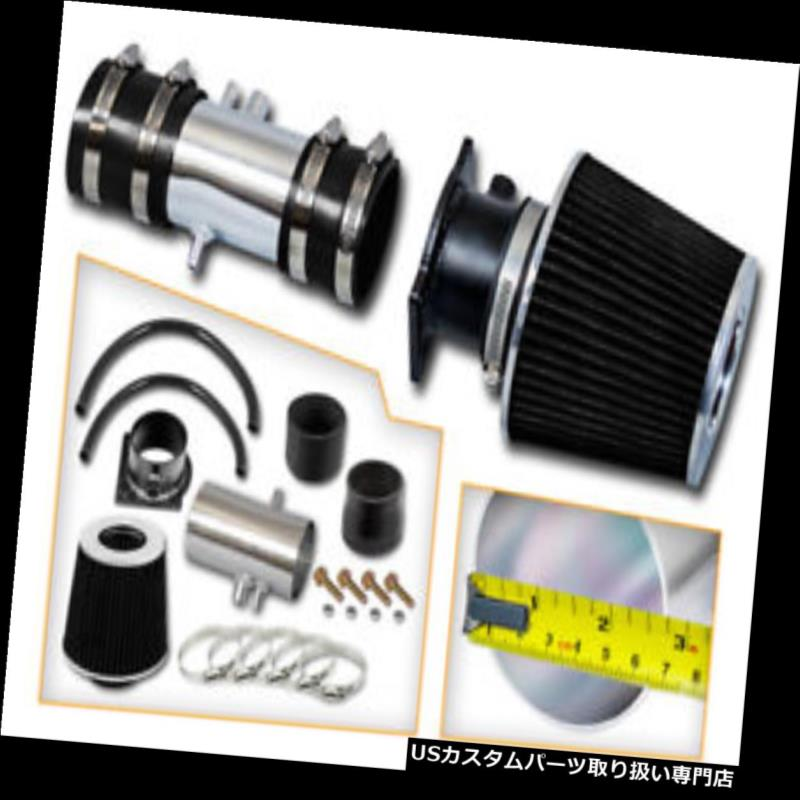 USエアインテーク インナーダクト BCP BLACK 98-02クーガー/ミスティク e 2.5L V6ショートラムエアインテークシステム+フィルター BCP BLACK 98-02 Cougar/Mystique 2.5L V6 Short Ram Air Intake System + Filter