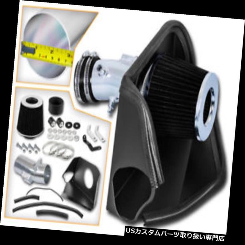Filter BCP BLACK For 07-12 Altima V6 3.5L Heat Shield Cold Air Intake