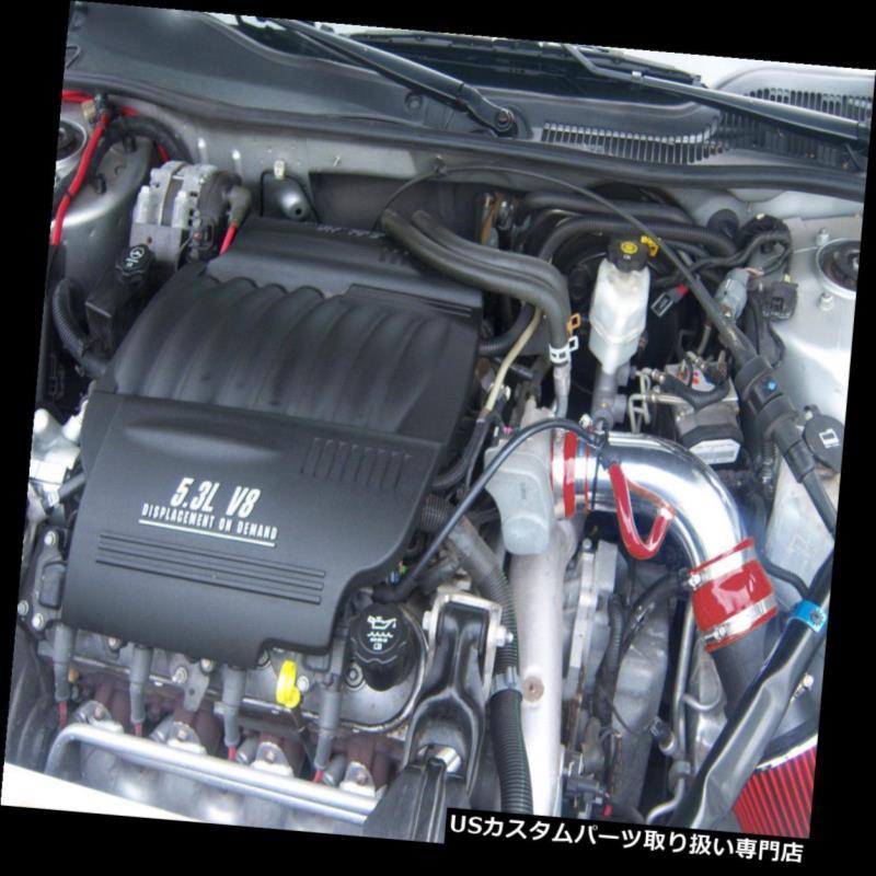 USエアインテーク インナーダクト BCP RED 04-08ポンティアックグランプリ3.8L V6ショートラムエアインテークキットフィルター BCP RED 04-08 Pontiac Grand Prix 3.8L V6 Short Ram Air Intake Kit+ Filter