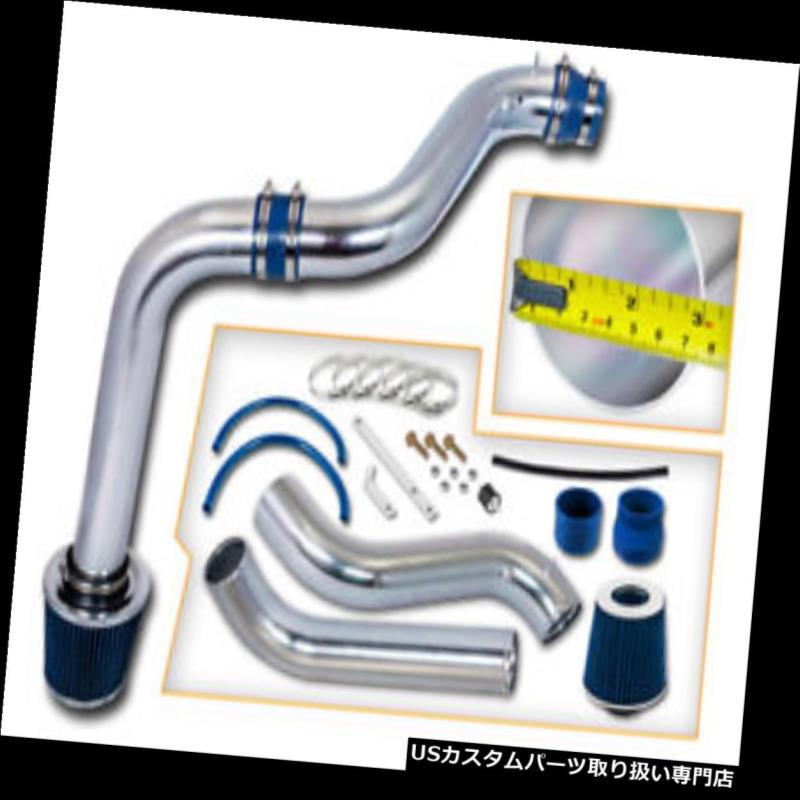 USエアインテーク インナーダクト BCP BLUE 92-96プレリュード2.2L / 2.3L L4冷気取り入れキット+フィルター BCP BLUE 92-96 Prelude 2.2L/2.3L L4 Cold Air Intake Induction Kit + Filter