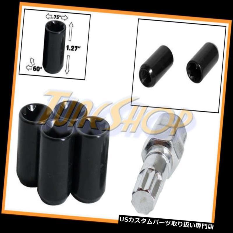 USナット 4チューナーホイールロックラグナット8ポイントキー12X1.5 12 1.5 ACORN OPEN END BLACK T 4 TUNER WHEEL LOCK LUG NUTS 8 POINT KEY 12X1.5 12 1.5 ACORN OPEN END BLACK T