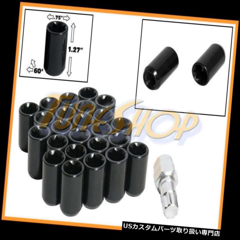 USナット 24チューナーホイールロックナッツ8ポイントキー12X1.5 12 1.5 ACORN OPEN END BLACK M 24 TUNER WHEEL LOCK LUG NUTS 8 POINT KEY 12X1.5 12 1.5 ACORN OPEN END BLACK M