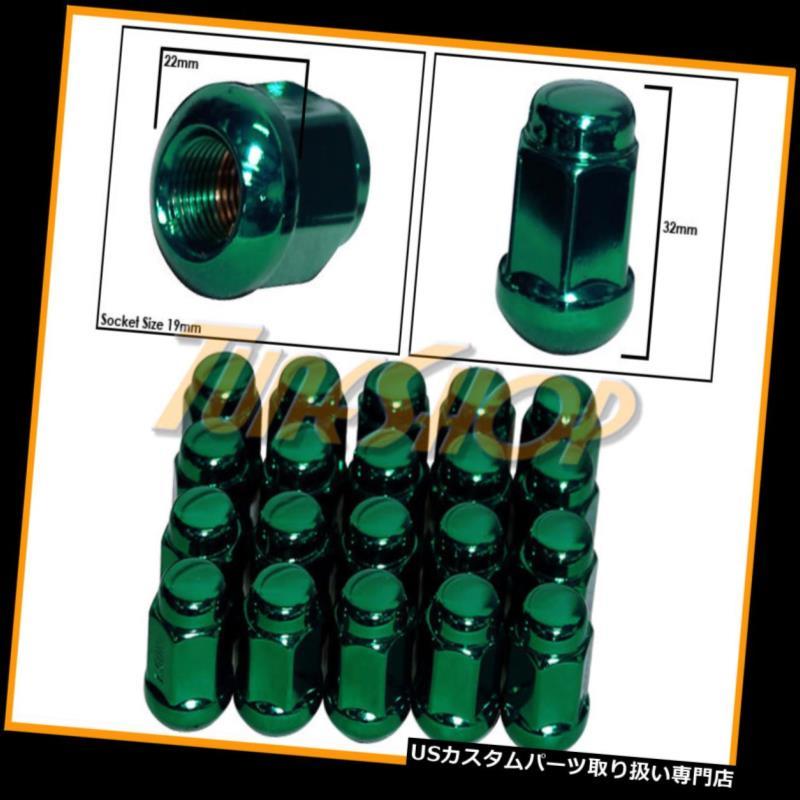 USナット 20ホンダボールRADIUSストックOEMホイールラグナット12X1.5 M12 1.5クローズドエンドグリーン 20 HONDA BALL RADIUS STOCK OEM WHEELS LUG NUTS 12X1.5 M12 1.5 CLOSED END GREEN