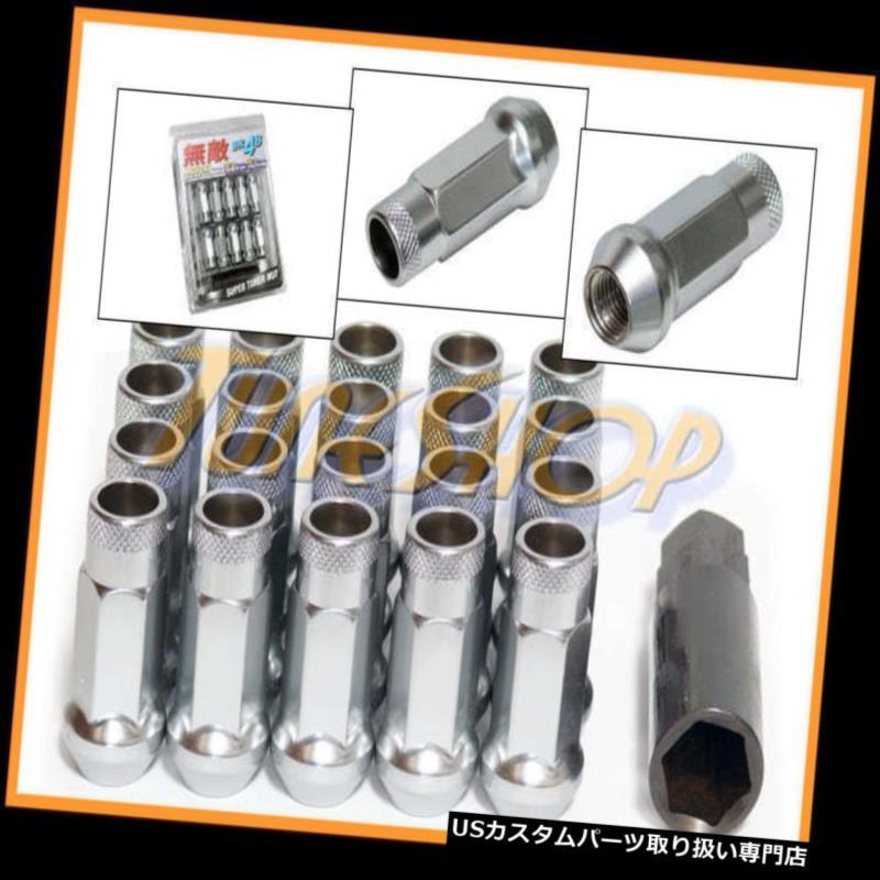 USナット MUTEKI SR48ホイールラグナット12X1.25 1.25 ACORNリム拡張オープンエンド20シルバーN MUTEKI SR48 WHEELS LUG NUTS 12X1.25 1.25 ACORN RIM EXTENDED OPEN END 20 SILVER N