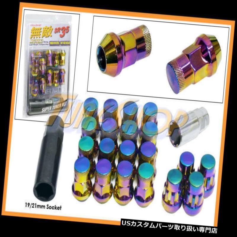 USナット MUTEKI LOCK SR35ホイールラグナット12X1.5 M12 1.5 ACORN RIMS CLOSE END 20 NEO-C M MUTEKI LOCK SR35 WHEELS LUG NUTS 12X1.5 M12 1.5 ACORN RIMS CLOSE END 20 NEO-C M