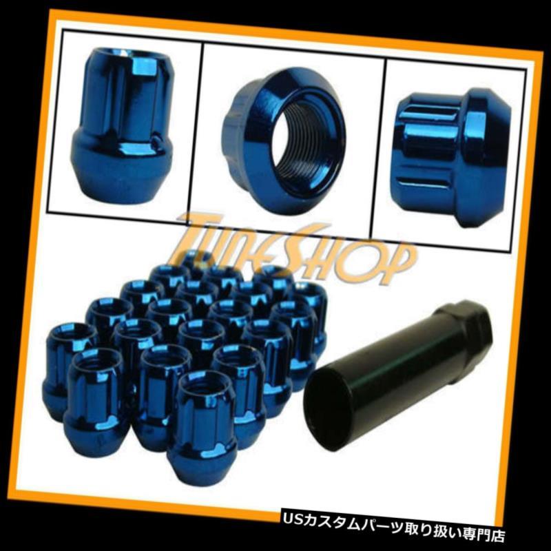 USナット MUTEKI OPEN SPLINEチューナーロックラグナッツ12X1.5 1.5 ACORNホイールリムブルーH MUTEKI OPEN END SPLINE TUNER LOCK LUG NUTS 12X1.5 1.5 ACORN WHEEL RIM BLUE H