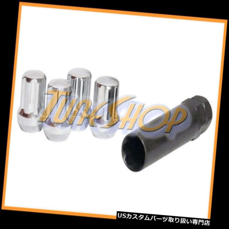 USナット 4二重7スプラインホイールロックラグナッツキー14X1.5 M14 1.5 ACORN CLOSE END CHROME 4 DUPLEX 7 SPLINE WHEEL LOCK LUG NUTS KEY 14X1.5 M14 1.5 ACORN CLOSE END CHROME