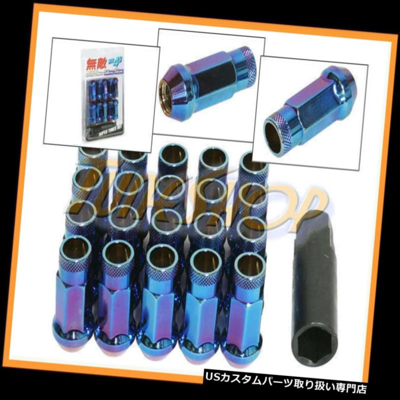 NEO CHROME R-STYLE CLOSE END EXTENDED WHEEL LUG NUTS+LOCK /& KEY FOR  MITSUBISHI