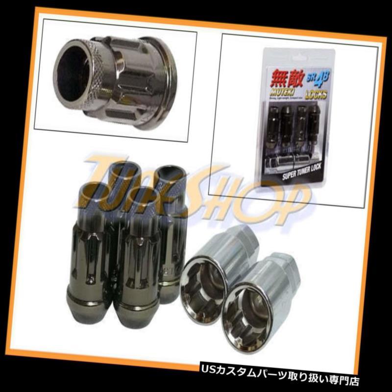 USナット MUTEKI SR48 4ホイールロックラッグナッツセット12X1.5 1.5 ACORNリムオープンエンドTI-C T MUTEKI SR48 4 WHEELS LOCK LUG NUTS SET 12X1.5 1.5 ACORN RIMS OPEN END TI-C T