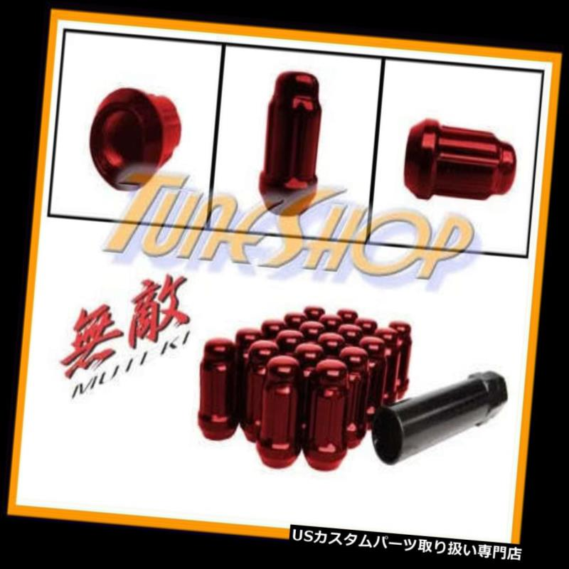 USナット MUTEKI CLOSE ENDスプラインチューナーロックラグナッツ12X1.25 1.25 ACORNホイールリムレッドN MUTEKI CLOSE END SPLINE TUNER LOCK LUG NUTS 12X1.25 1.25 ACORN WHEEL RIM RED N