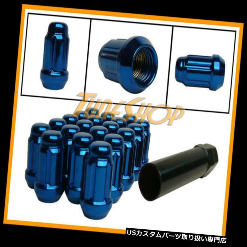 USナット MUTEKI CLOSE ENDスプラインチューナーロックラグナッツ12X1.25 1.25 ACORNホイールリムブルーN MUTEKI CLOSE END SPLINE TUNER LOCK LUG NUTS 12X1.25 1.25 ACORN WHEEL RIM BLUE N