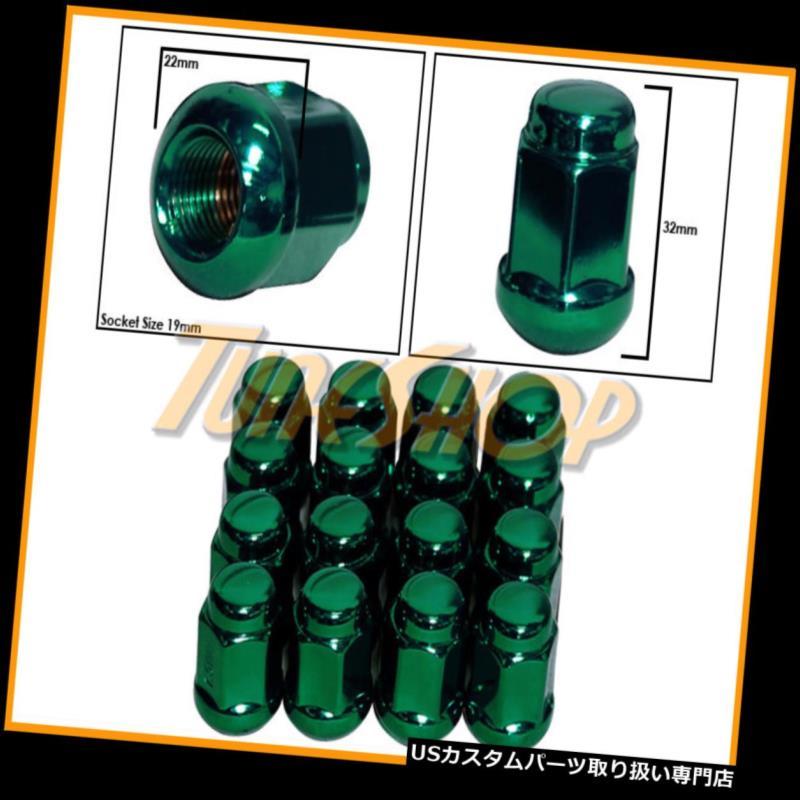 車用品・バイク用品 >> 車用品 >> タイヤ・ホイール >> ロックナット USナット 16アキュラボールRADIUSストックOEMホイールラグナット12X1.5 M12 1.5クローズドエンドグリーン 16 ACURA BALL RADIUS STOCK OEM WHEELS LUG NUTS 12X1.5 M12 1.5 CLOSED END GREEN