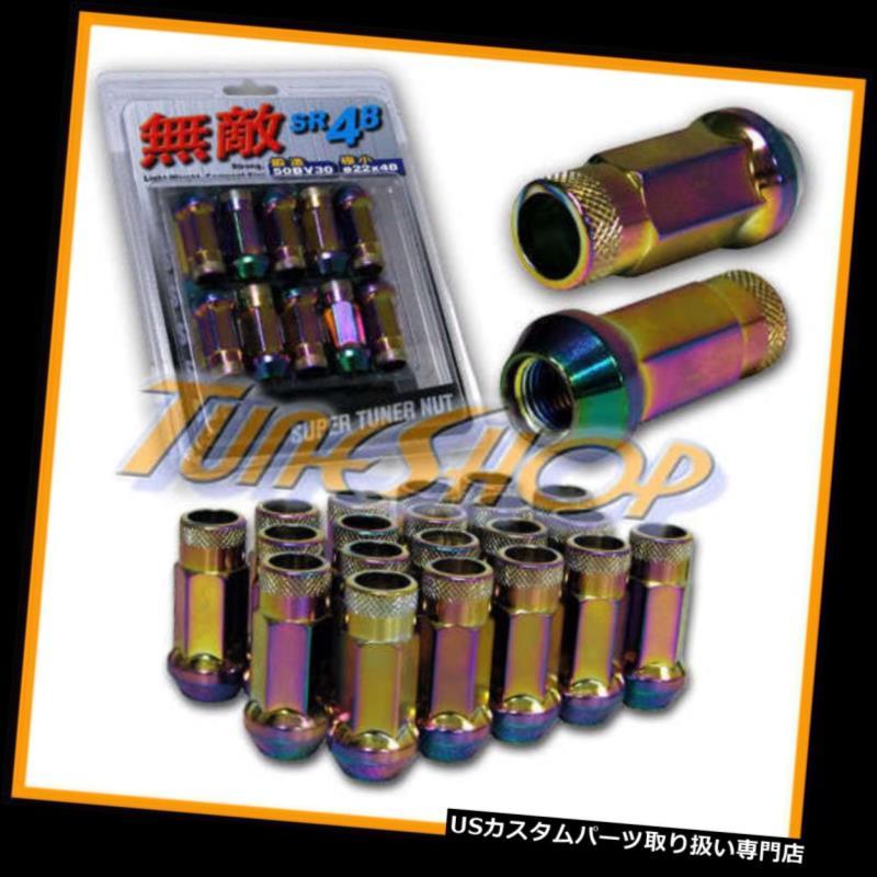 USナット MUTEKI SR48ホイールラグナット12X1.25 1.25 ACORNリム拡張オープンエンド20 NEO-C N MUTEKI SR48 WHEELS LUG NUTS 12X1.25 1.25 ACORN RIM EXTENDED OPEN END 20 NEO-C N