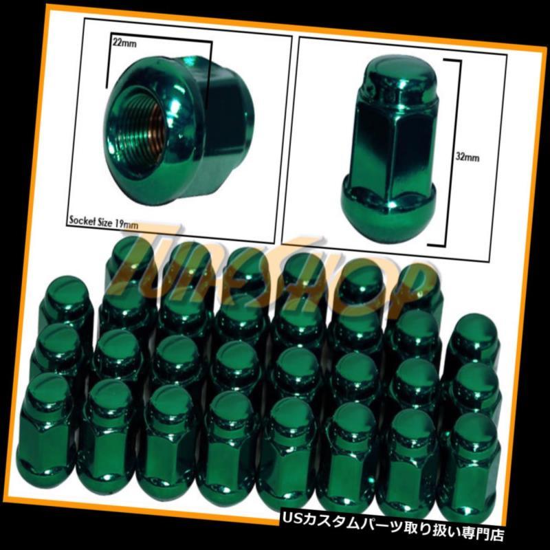 USナット 30ホンダボールRADIUSストックOEMホイールラグナット12X1.5 M12 1.5クローズドエンドグリーン 30 HONDA BALL RADIUS STOCK OEM WHEELS LUG NUTS 12X1.5 M12 1.5 CLOSED END GREEN