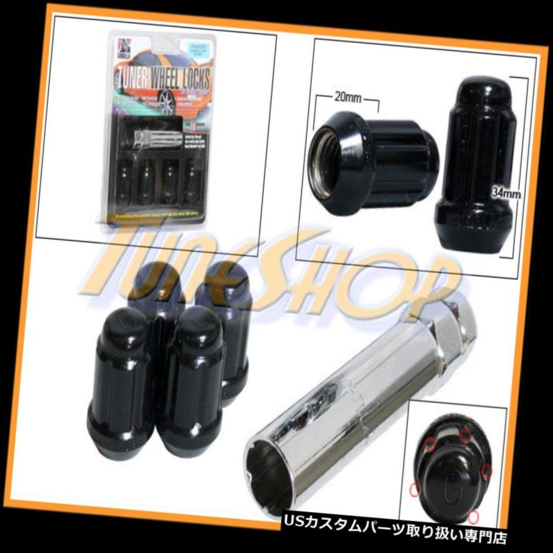 USナット 4 Gロックゴリラチューナーホイールラグナット5ポイントキー12X1.5 12 1.5 ACORN BLACK H 4 G LOCK GORILLA TUNER WHEEL LUG NUT 5 POINT KEY 12X1.5 12 1.5 ACORN BLACK H