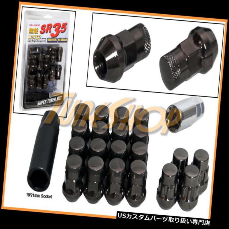 USナット MUTEKI LOCK SR35ホイールラグナット12X1.5 M12 1.5 ACORNリムクローズエンド20 TI-C U MUTEKI LOCK SR35 WHEELS LUG NUTS 12X1.5 M12 1.5 ACORN RIMS CLOSE END 20 TI-C U