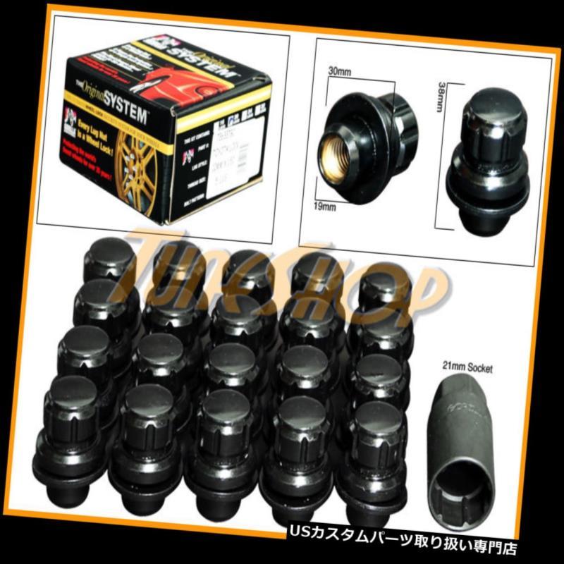 USナット 20オールロックゴリラレクサスシオンストックファクトリーホイールリムマグラグナット12X1.5ブラック 20 ALL LOCK GORILLA LEXUS SCION STOCK FACTORY WHEEL RIM MAG LUG NUT 12X1.5 BLACK