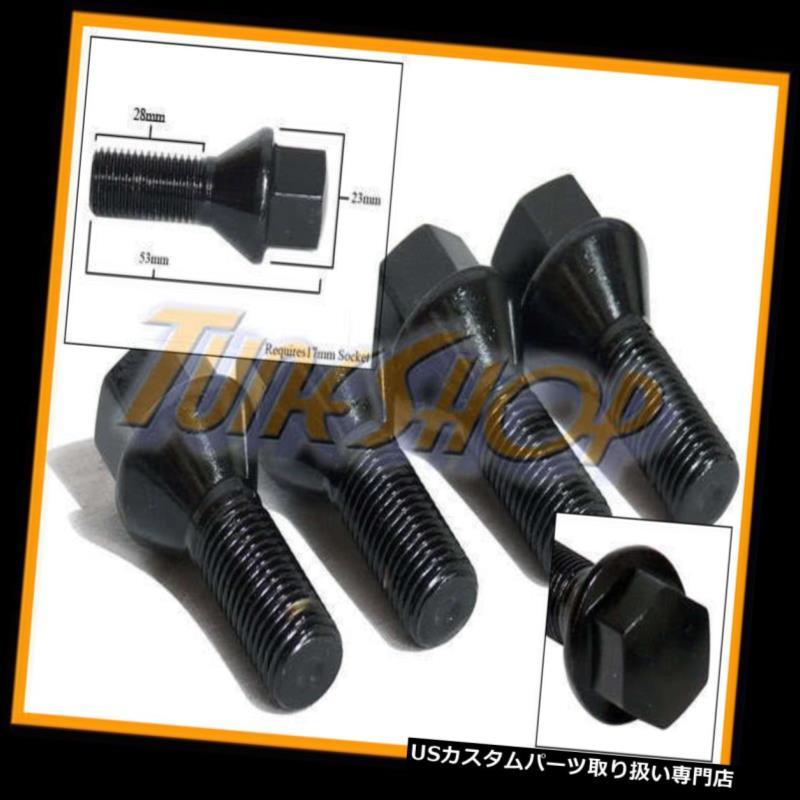 USナット 4 28MMチューナーホイールリムボルトボルトナット12x1.5 12 1.5コーンテーパーコニカルブラック 4 28MM TUNER WHEELS RIMS LUG BOLTS NUTS 12x1.5 12 1.5 CONE TAPER CONICAL BLACK
