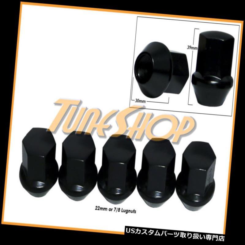 USナット 5大型シートファクトリースタイルストックホイールラグナット14 x 1.5 M14 ACORNリムブラック 5 LARGE SEAT FACTORY STYLE STOCK WHEELS LUG NUTS 14 X 1.5 M14 ACORN RIMS BLACK
